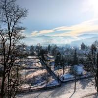 iarna in zona manastirii Moldovita