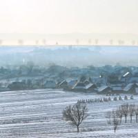 iarna la sate in zona siret, suceava