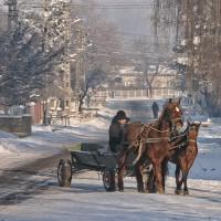 fotografii iarna prin sate