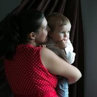portret mama si copilul