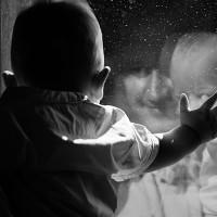 fotografie alb negru bebe