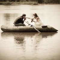 fotografii de nunta pe barca