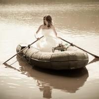 cu barca pe lac